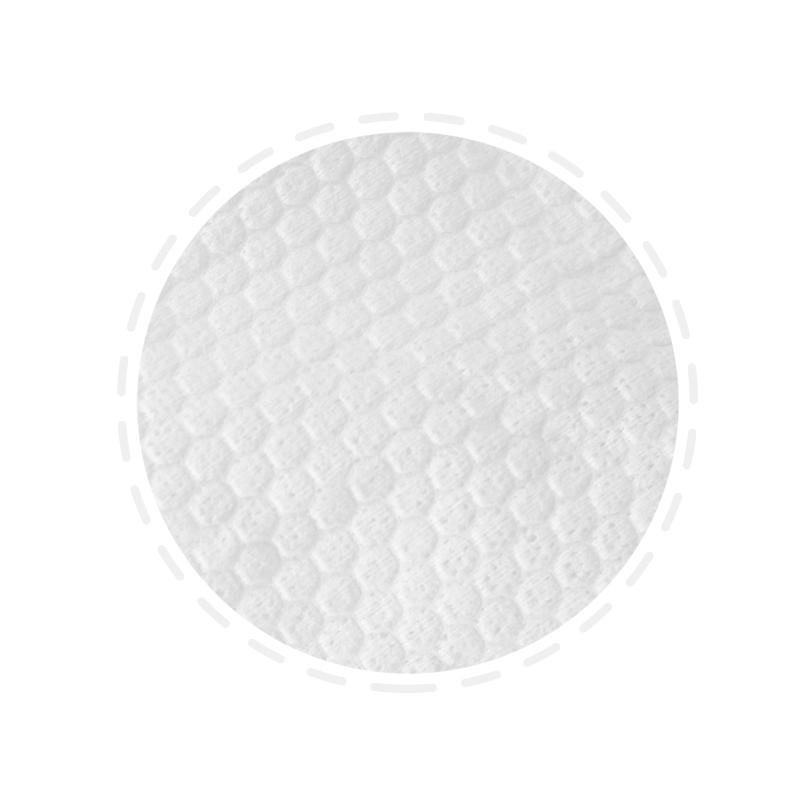 Cellulose fiber wipe in roll