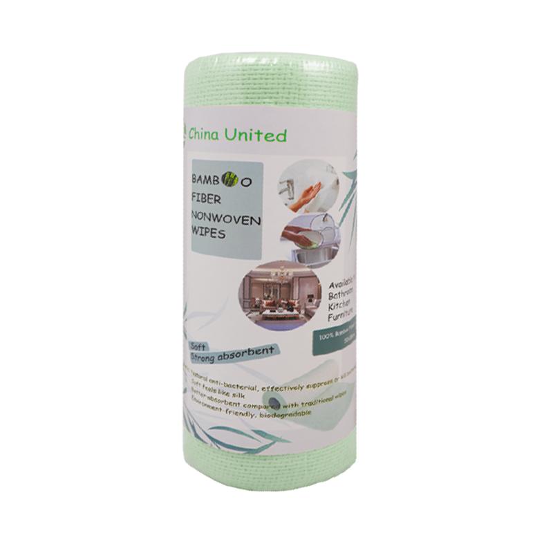 Bamboo fiber towel in roll