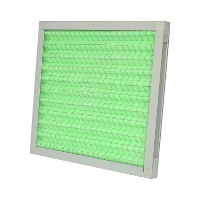 Heating and ventilation system Folding type aluminum and paper frame primary filter with wire mesh