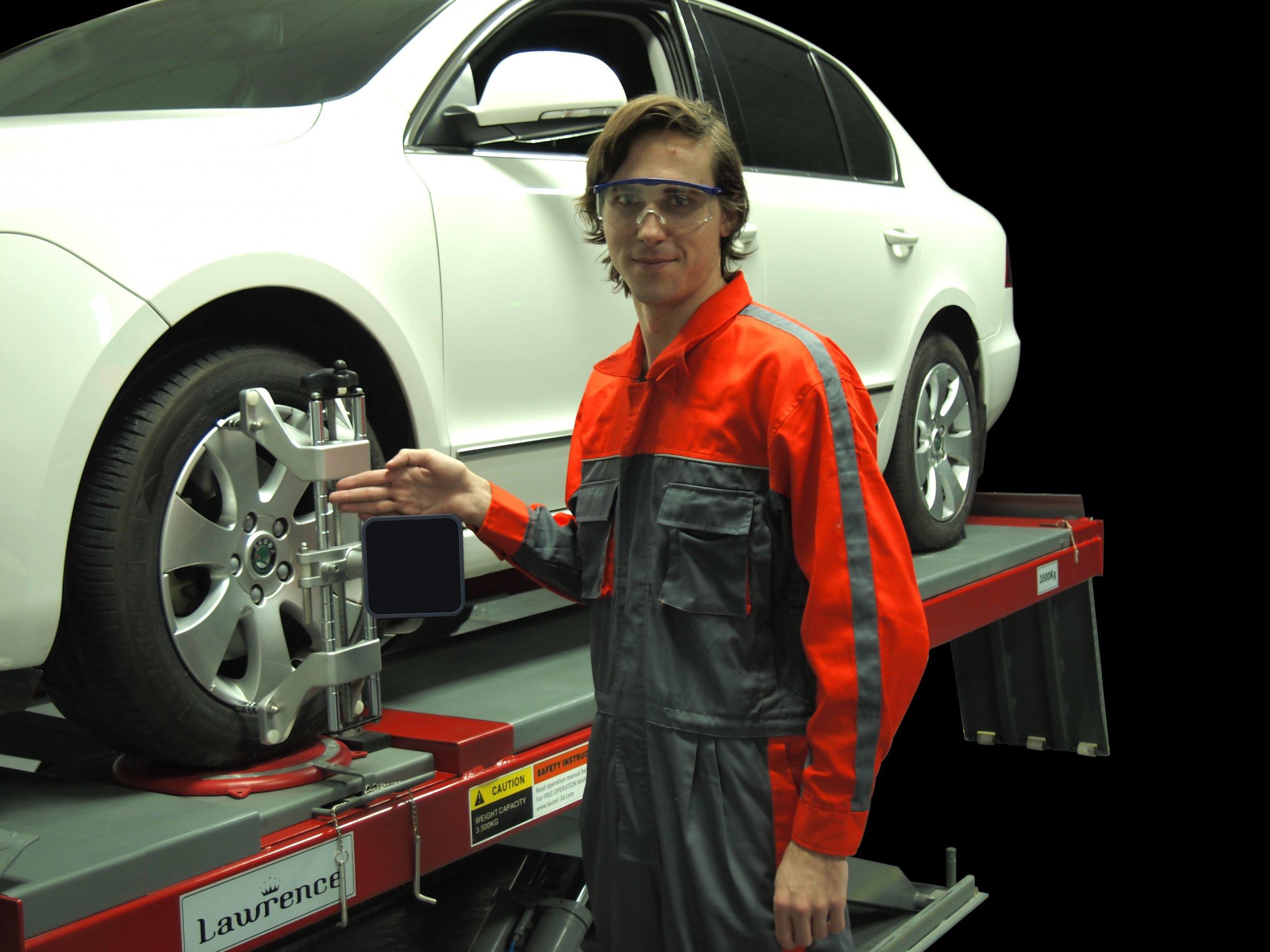 车型测量可选四轮测量、两轮测量