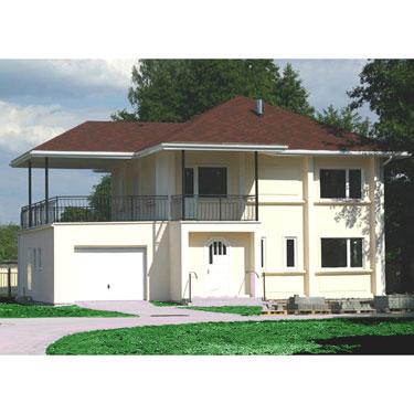 钢结构别墅房屋工程案例4