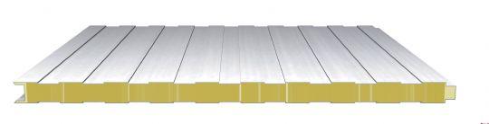 防火岩棉夹芯板方波墙面系统