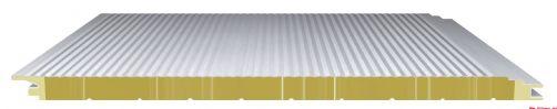 防火岩棉夹芯板水波墙面系统