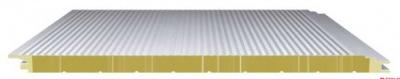 防火巖棉夾芯板水波墻面系統