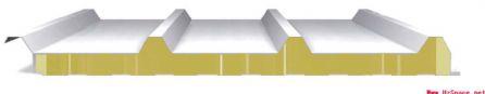 防火岩棉夹芯板瓦楞屋面系统