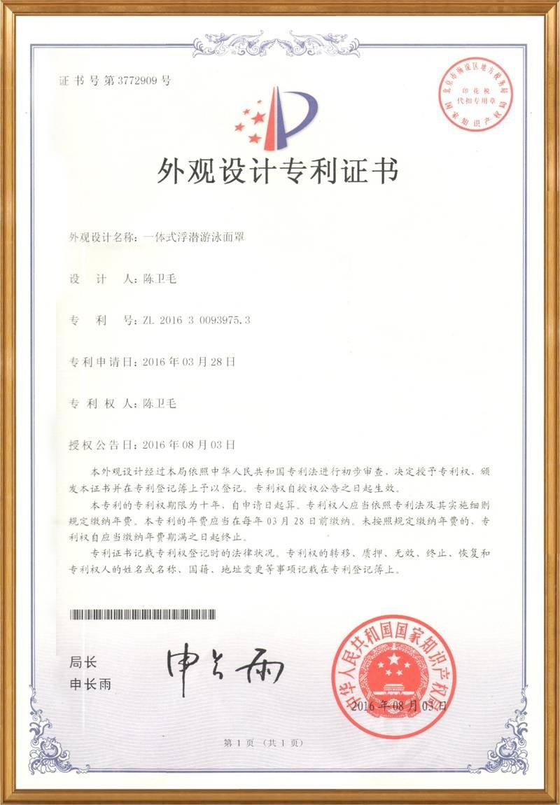 Appearance patent for R10 in China