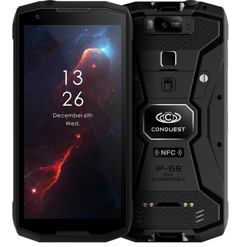 征服CONQUEST S12全面屏ip68级户外3三防智能化工dmr对讲防爆手机