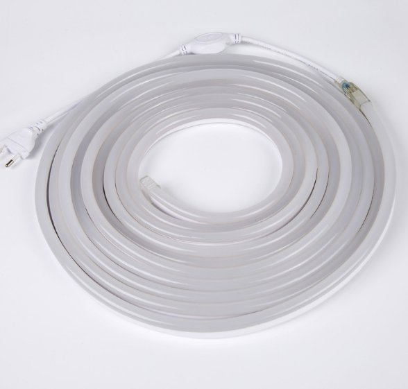 LED Neon Lights 8x16mm , 65ft 165Ft 3000K Warm White, 110V~120V Flexible Waterproof Rope Lights,