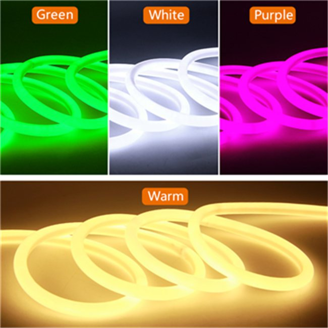 16mm Red 360 Degree Round LED Neon Strip Flexible Light 120Leds/M
