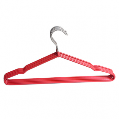 Metal Hangers Non-Slip Suit Coat Hangers Chrome and Black Friction with Rubber Coating