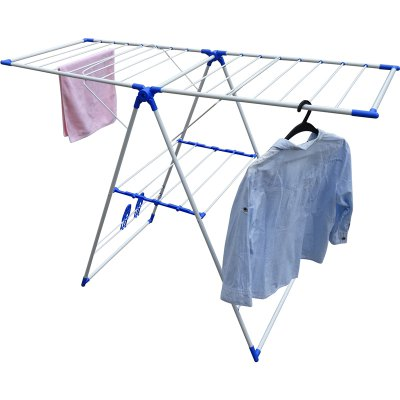 Wireking wing shape 14M foldable iron steel cloth display rack, outdoor clothes airer