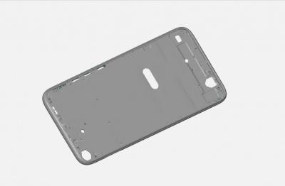 手机中框加工件进行ATOS蓝光扫描检测,全尺寸数据CAV对比