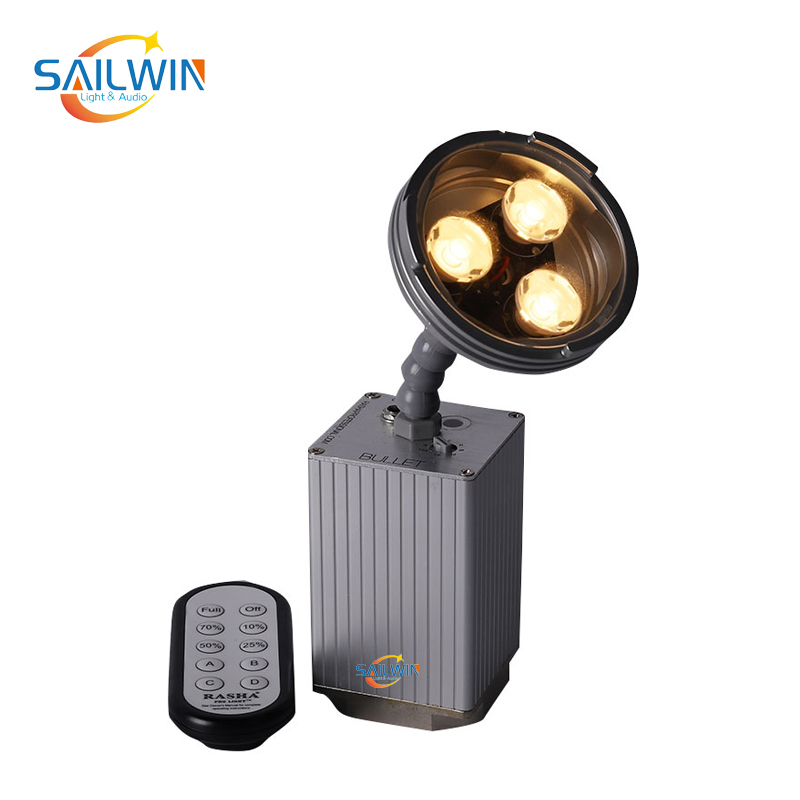3x3W Warmwhite/Coolwhite Battery Powered LED Pinspot Light With Magnetic