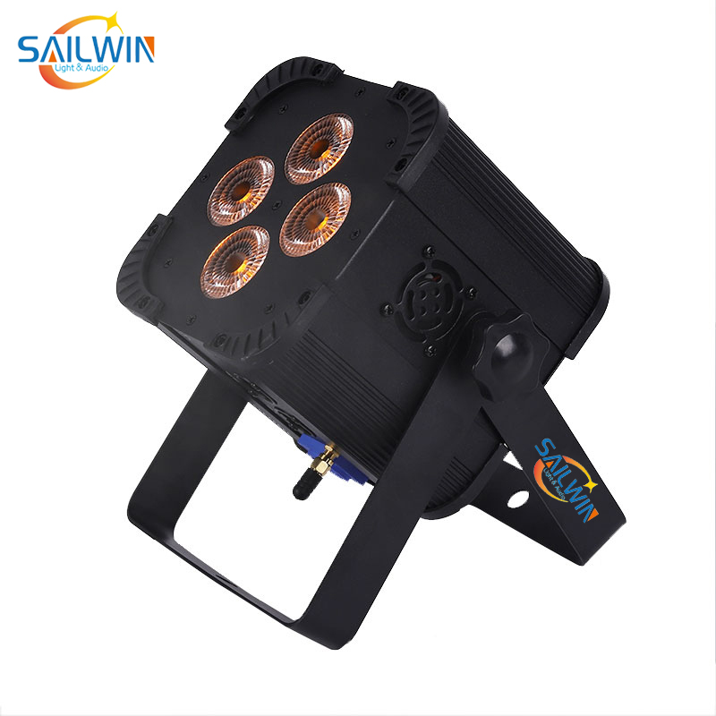 4*18W 6IN1 RGBAW UV Battery Powered Mini Uplight