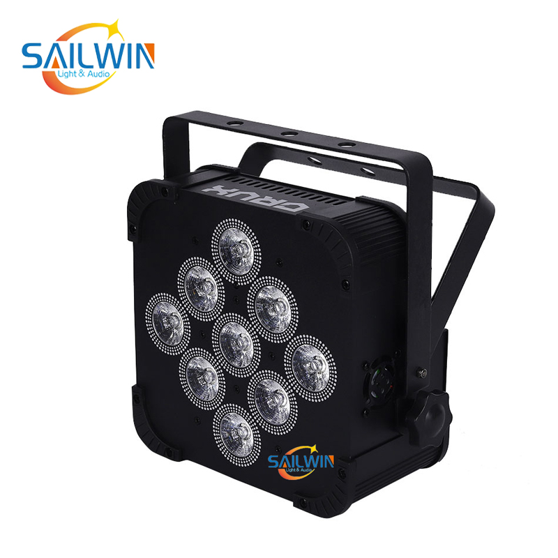 9x10W 4in1 Battery Powered Wireless LED Par Light SW-C4V9BW