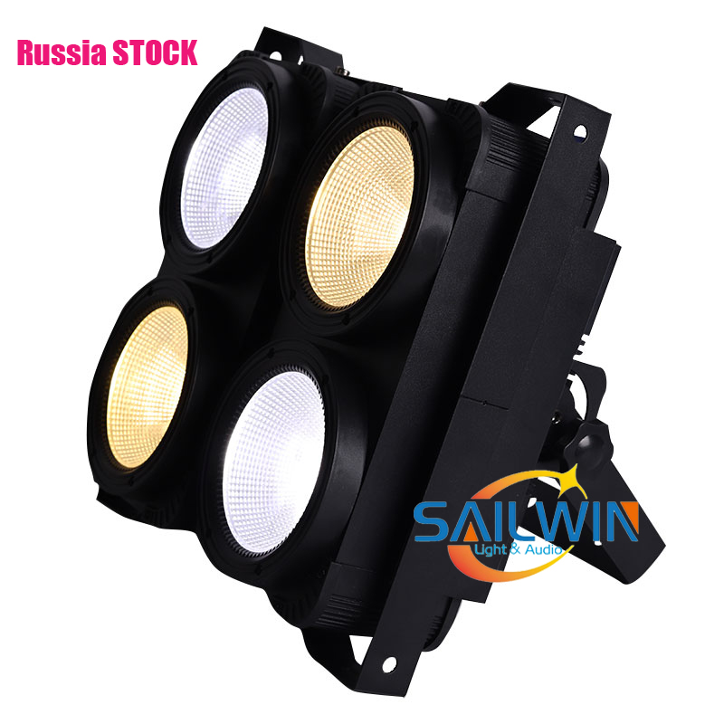 4x100W Warmwhite/Coolwhite COB LED Blinder Audience Light