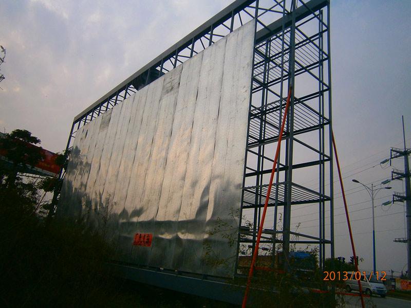12年3月三水市T牌显示屏钢架