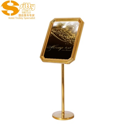 91.3023A钛金不锈钢酒店指示牌