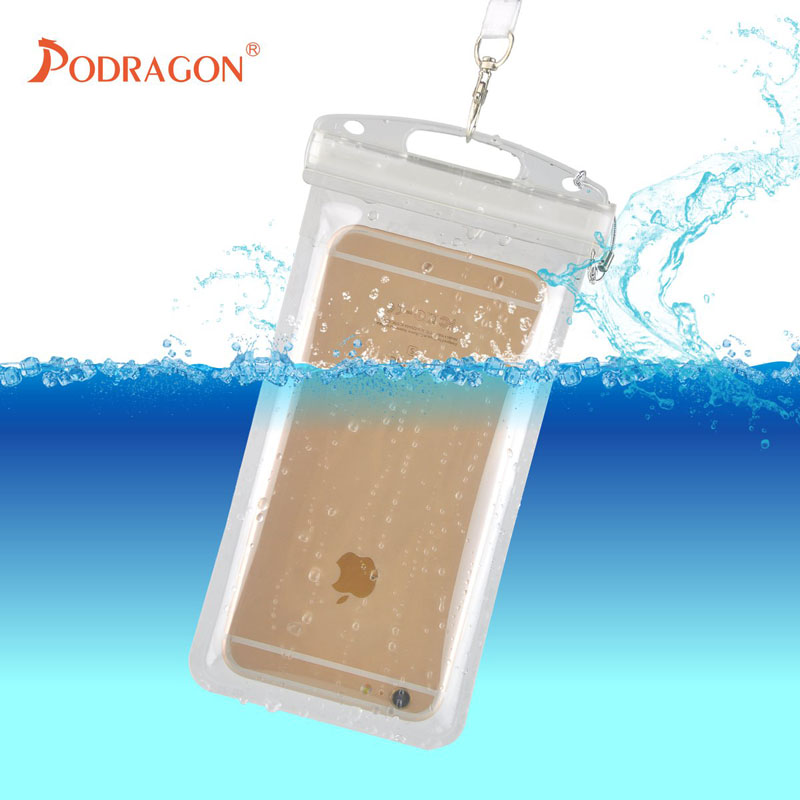 Podragon mobile phone waterproof bag hot spring swimming upstream river rafting surfing diving