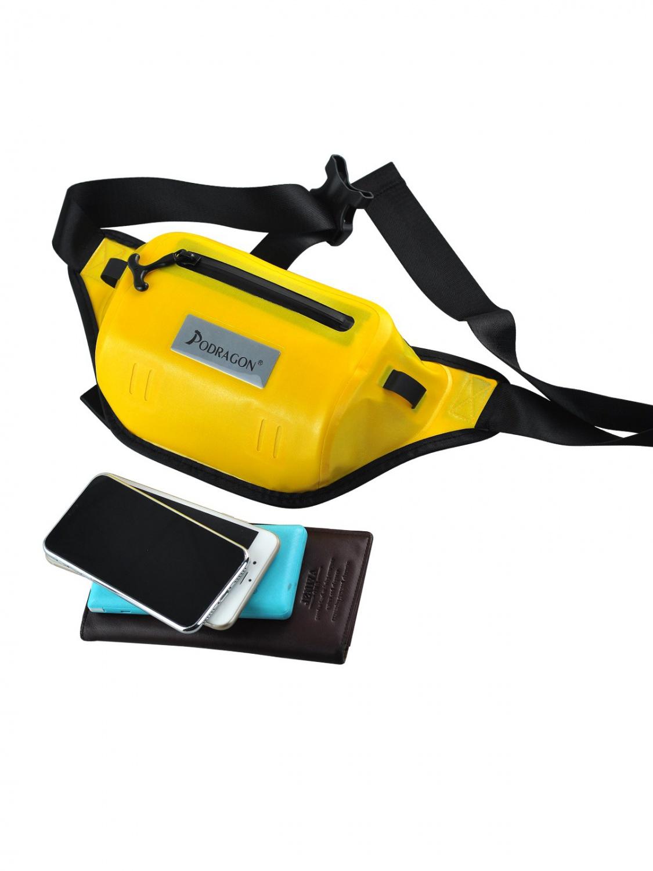 Podragon新款双拉链双袋中型防水腰包游泳潜水男女通用