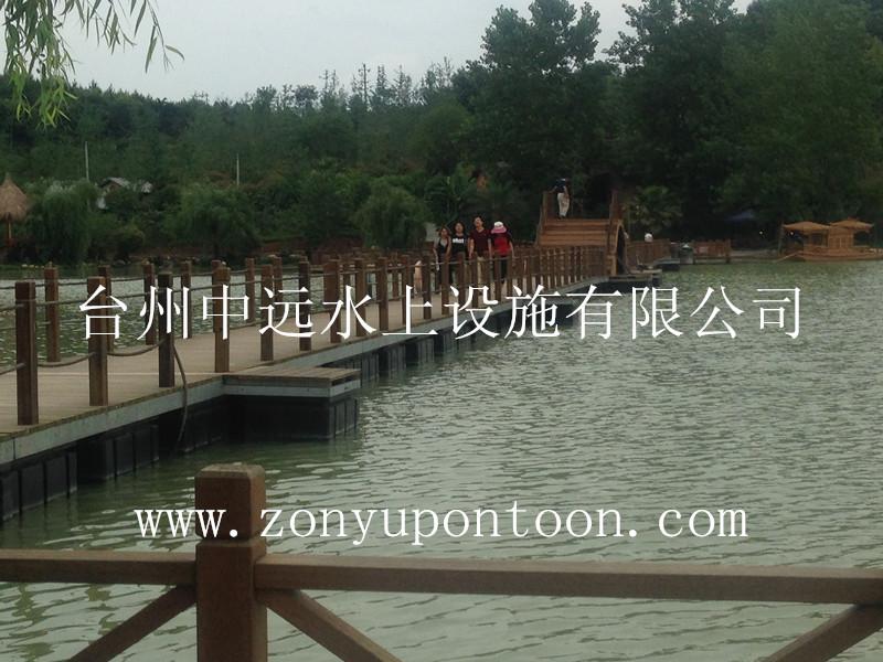 我司新建某公园水上浮桥