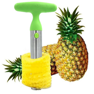 10inch Easy Kitchen Tool Stainless Steel Fruit Pineapple Peeler Corer Slicer Cutter