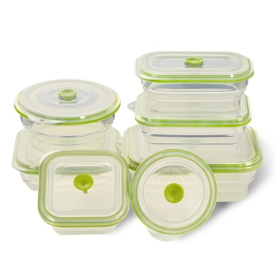New BPA free silicone foldable food storage container lunch box