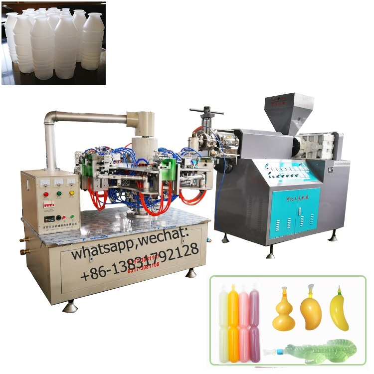 Separate Style Rotary Blow Molding Machine for ice lolly tube, milk yogurt bottles,