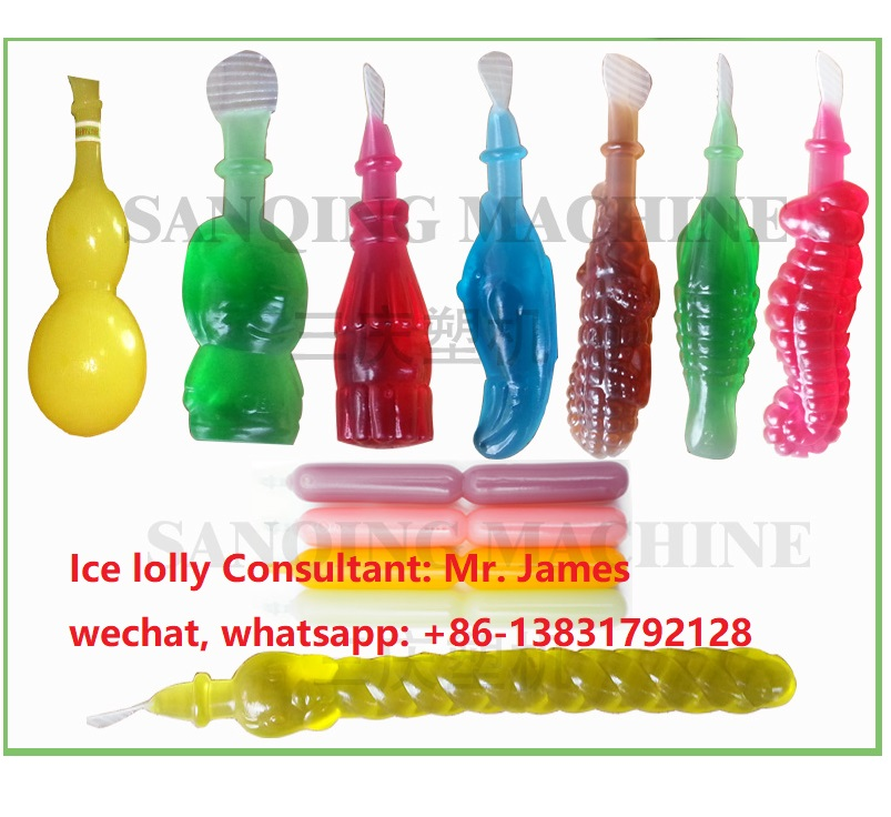 Lolly pop soft bottle blow molding machine