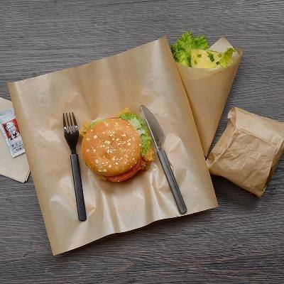 Disposable hamburger paper, chicken roll paper, rice ball paper, sandwich paper, oil-proof   paper