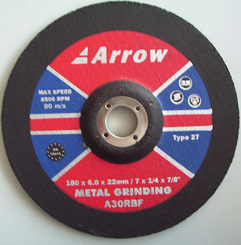 Depressed Centre Metal Grinding Discs ( Type 27)