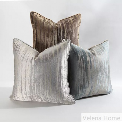 Glue Embossed Velvet Cushion