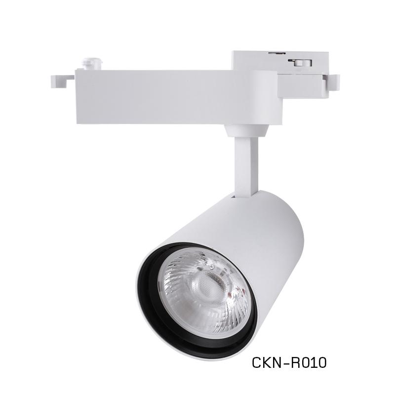 中坤CKN-R010led軌道燈服裝店鋪30W商用明裝吸頂導軌式超亮聚光背景墻LED天花射燈