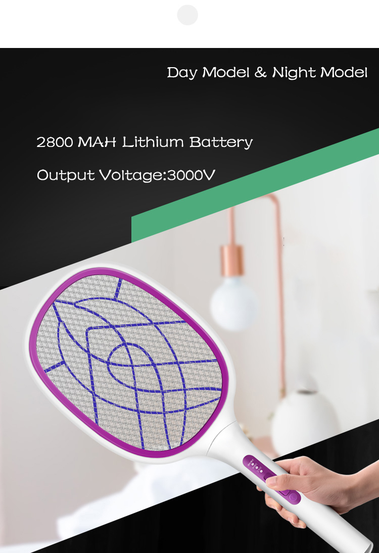 Bug Zapper/Fly Swatter/Electric Mosquito Killer with Fast USB Charging, Bright LED Lighting,