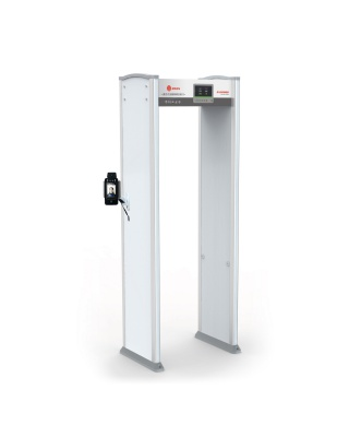 ZA3000 walk through metal detector with face recognition and temperature detect function