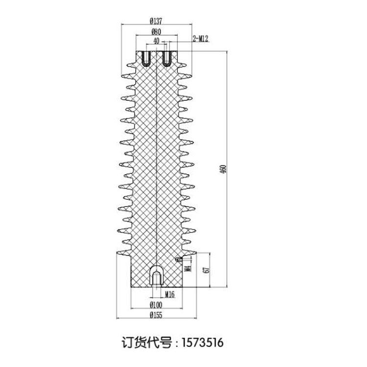 Sensor SSR-35J 155mm*460mm 35KV from JUCRO Electric