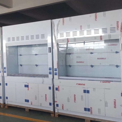 PP Fume Cupboard Acid Base Resistant, Chemical Fume Hood With Sink