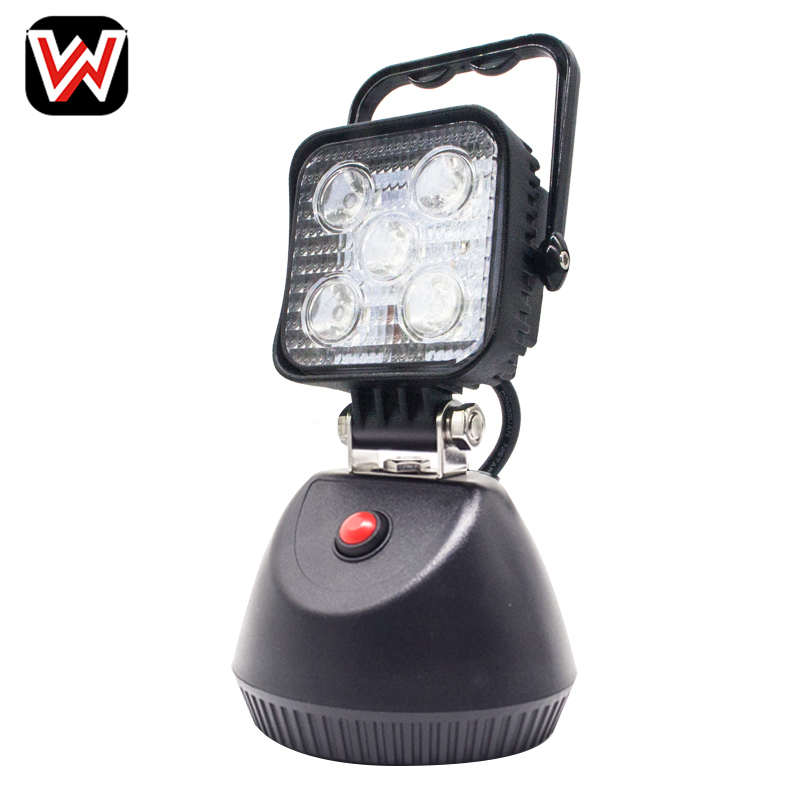 15W Rechargeable LED Work Light Single bottom